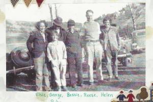 My grandma Elsie standing on the far left with her siblings.